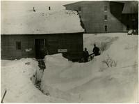 Clark Electric Company - path through deep snow leads to shop door