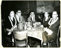 Theresa and Myer Bornstein, Maurice Camillo and Tom Busalacchi in the Hawaiian Room at the Hotel Lexington in New York