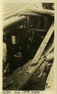 Lower Baker River dam construction 1924-11-19 Elevated pipe