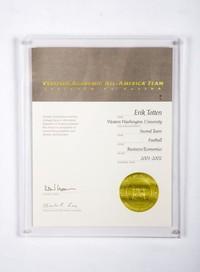 Football Certificate: Verizon Academic All-American Team, Erik Totten,             2001/2002