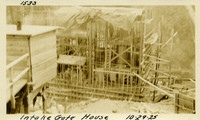 Lower Baker River dam construction 1925-10-29 Intake Gate House