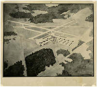 Drawing of design for enlarged Bellingham Airport