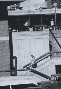 1981 Addition Plaza, Stairway to Lower Level & Garden Street