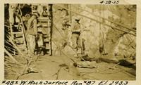 Lower Baker River dam construction 1925-04-28 W. Rock Surface Run #87 El.293.3
