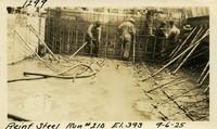 Lower Baker River dam construction 1925-09-06 Reinf Steel Run #210 El.393