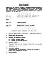 WWU Board minutes 1989 October