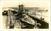 """U.S.S. Colorado in Panama Canal"""