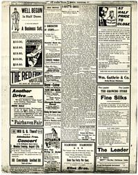 """A page of """"The Evening Herald - Fairhaven, Washington"""" shows article about Pacific Packing and Navigation Company of Portland"""