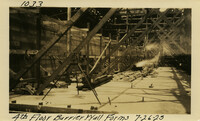 Lower Baker River dam construction 1925-07-26 4th Floor Barrier Wall Forms