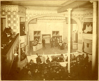 View from box seats of stage at The Bellingham Opera House during live production