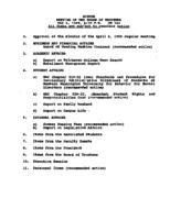 WWU Board minutes 1989 May