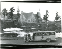 Mt. Baker Lodge with omnibus in foreground