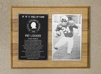 Hall of Fame Plaque: Pat Locker, Football (Running Back), Class of 1989