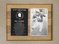 Hall of Fame Plaque: Pat Locker, Football (Running Back), Class of 1989