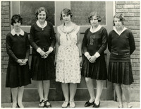 Fairhaven students - five unidentified young women