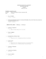 WWU Board of Trustees Packet: 2015-08-20