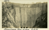 Lower Baker River dam construction 1925-09-14 Downstream face of Dam