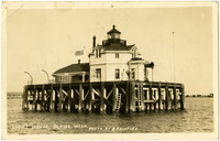 Lighthouse built on stand-alone pier, Blaine (Wash.)