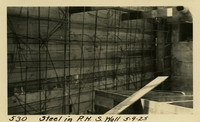 Lower Baker River dam construction 1925-05-09 Steel in P.H. S. Wall