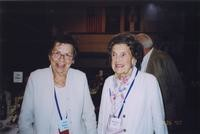 2007 Reunion--Joan (Haggard) King and Margaret (Haggard) Miller at the Banquet