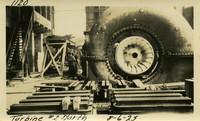 Lower Baker River dam construction 1925-08-06 Turbine #2 North