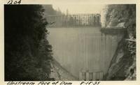 Lower Baker River dam construction 1925-08-18 Upstream Face of Dam