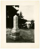 Monument marking the British Camp on San Juan Island.