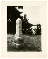 Monument marking the British Camp on San Juan Island.