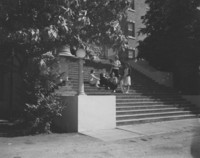 1947 Students on Steps of Edens Hall