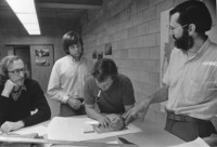 1975 Huxley College Students with Professor