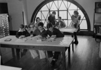1942 Eighth Grade Students Work on Projects (Class 8-B)