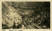 Lower Baker River dam construction 1924-09-15 Construction activities