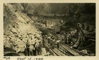 Lower Baker River dam construction 1924-09-15 Construction activities