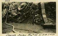 Lower Baker River dam construction 1925-06-16 Concrete Surface Run #135 El.274