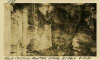 Lower Baker River dam construction 1925-08-15 Rock Surface Run #184 E. Side El.341.5