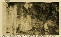 Lower Baker River dam construction 1925-08-15 Rock Surface Run #184 E. Side El.341.5