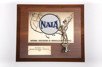 Volleyball (Women's) Plaque: NAIA Bi-District 1-2 Women's Champions (front), 1990