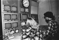 1979 Miller Hall: Students with Media Equipment