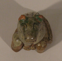 Sawankhalok ware model of a seated dog