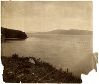 View from shore of Puget Sound and islands