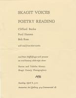 Skagit Voices Poetry Reading