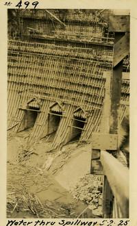 Lower Baker River dam construction 1925-05-02 Water Thru Spillway