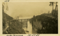 Lower Baker River dam construction 1925-10-27 Lake Shannon (with railroad trestle)
