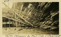 Lower Baker River dam construction 1925-05-25 Forms Damaged by Rock Slide at Dam