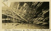 Lower Baker River dam construction 1925-05-25 Forms Damaged by Rock Slide at Dam