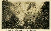 Lower Baker River dam construction 1925-08-26 View of Canyon