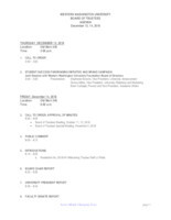 WWU Board of Trustees Packet: 2018-12-13