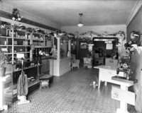 Interior view of household appliance store.
