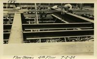 Lower Baker River dam construction 1925-07-01 Floor Beams 4th Floor