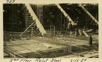 Lower Baker River dam construction 1925-06-16 2nd Floor Reinf Steel